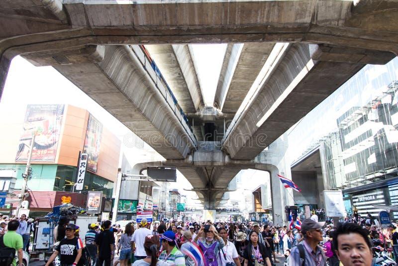 SLUITING BANGKOK - JANUARI 13 2014 royalty-vrije stock afbeelding