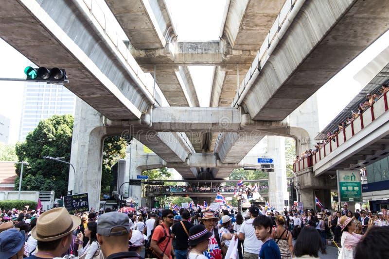 SLUITING BANGKOK - JANUARI 13 2014 stock afbeelding