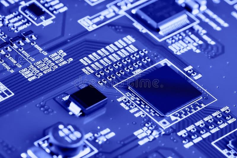 Sluiting van de elektronische printplaat High-tech-schakelbord royalty-vrije stock fotografie