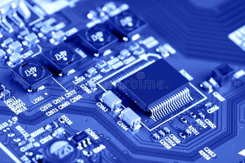 Sluiting van de elektronische printplaat High-tech-schakelbord royalty-vrije stock foto