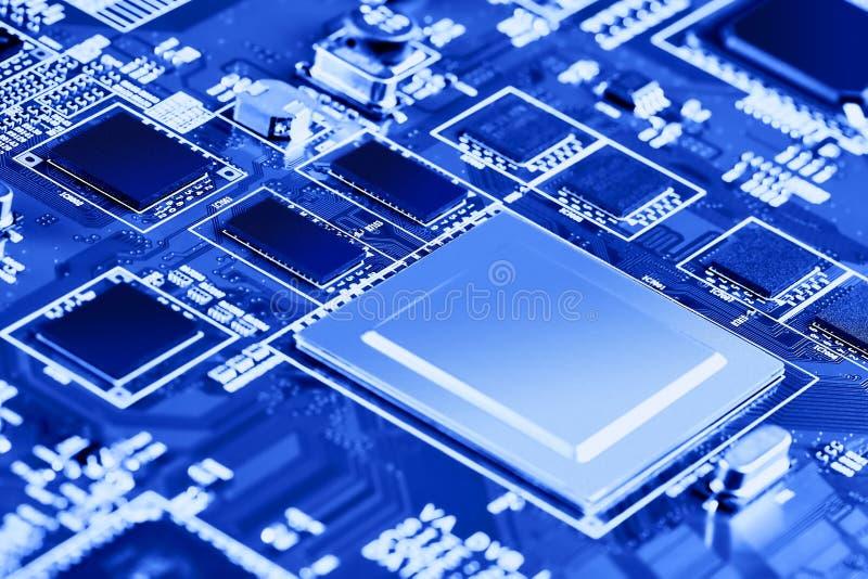 Sluiting van de elektronische printplaat High-tech-schakelbord royalty-vrije stock afbeeldingen