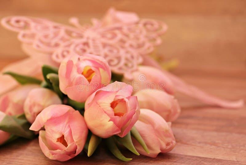Sluiting van Pink Flower Bouquet royalty-vrije stock foto