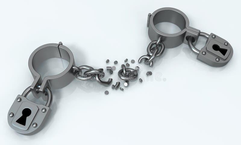 Sluitingen Verzegelde Metaalonderbreking stock illustratie
