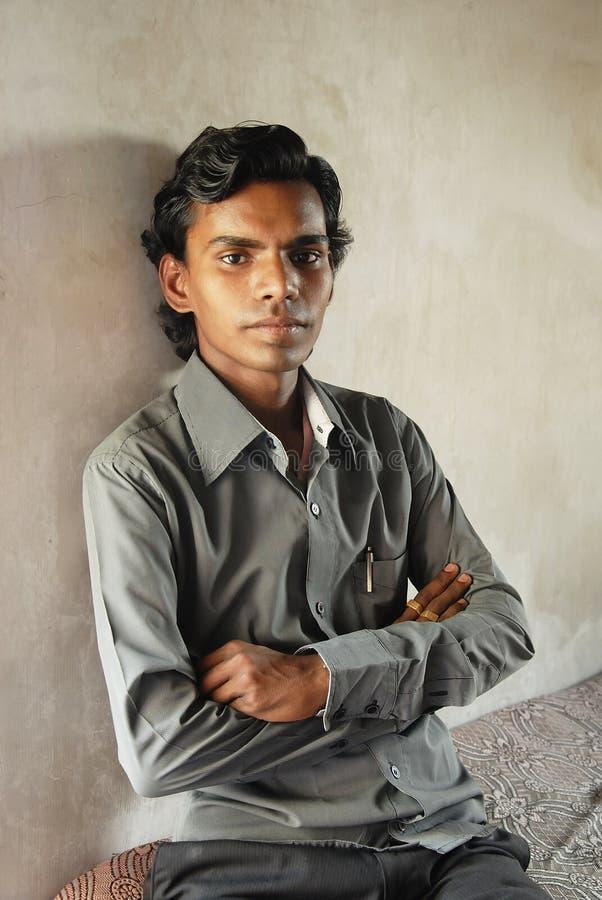 Slum Boy in Kolkata. March 07, 2012 Kolkata, West Bengal, India,Asia -A portrait of a slum boy in Kolkata stock photography