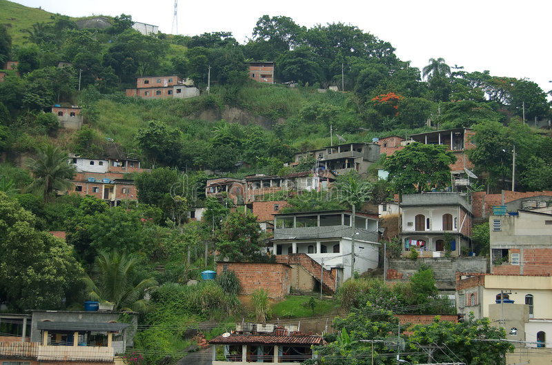Slum (Favella) stock photography