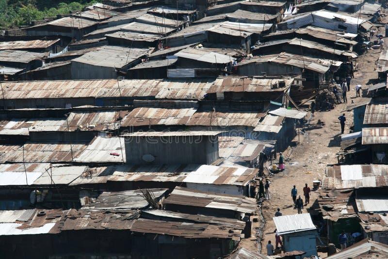 Slum in Nairobi stock image
