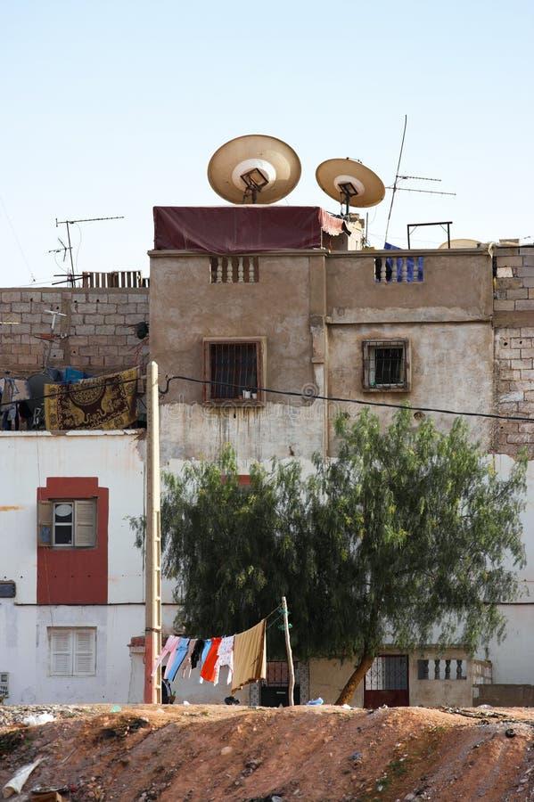 Slum in Palestine stock photo