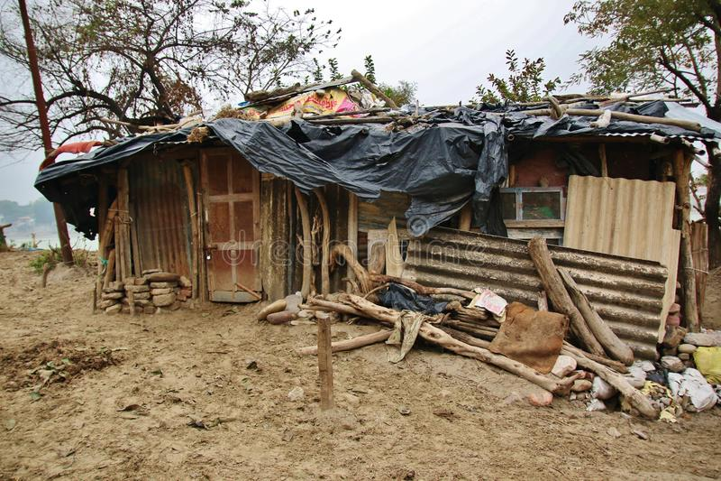 Slum of poor people stock photos