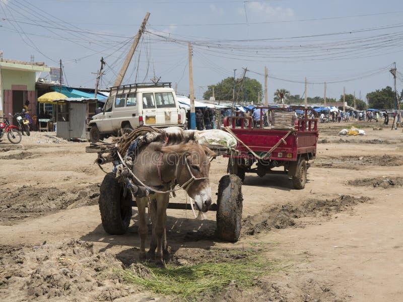 Slum in south sudan stock images