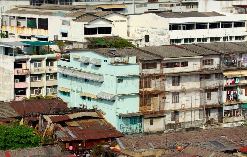 Slum in Thailand stock image