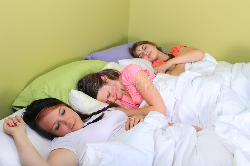 Download Slumber party stock image. Image of teens, group, trio - 16288561