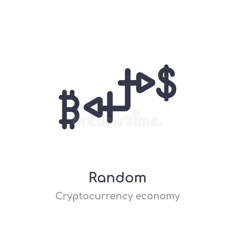 slumpmässig översiktssymbol isolerad linje vektorillustration fr?n cryptocurrencyekonomisamling slumpmässig symbol för redigerbar stock illustrationer