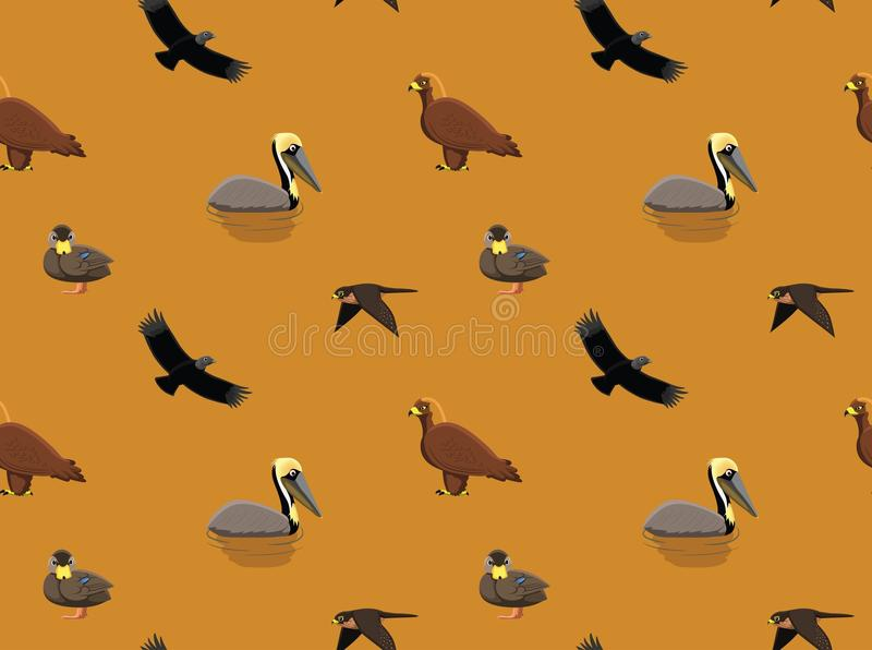Slumpmässig amerikansk fågeltapet 4 stock illustrationer