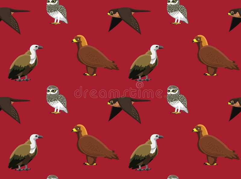 Slumpmässig europeisk fågeltapet 4 vektor illustrationer