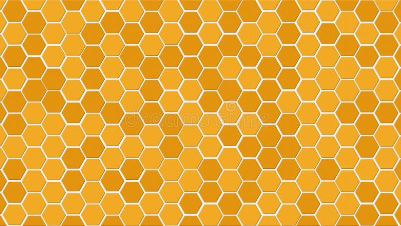 Slumpmässig färg för honungskaka eller för bikuparastercell av guld- eller guld- eller honung eller gul färgsignal för bakgrund e royaltyfri bild