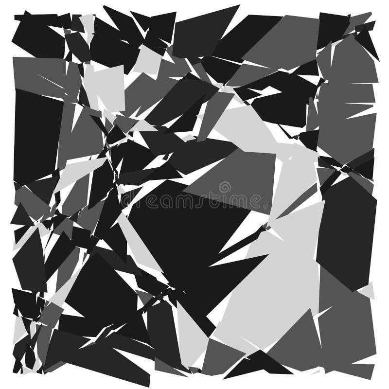 Slumpmässig mosaik Geometrisk modell för ojämn kullersten Tessella royaltyfri illustrationer