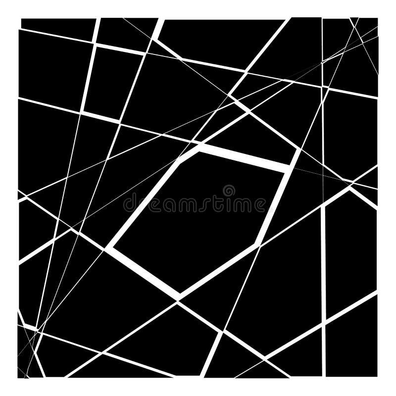 Slumpmässig mosaik Geometrisk modell för ojämn kullersten Tessella stock illustrationer