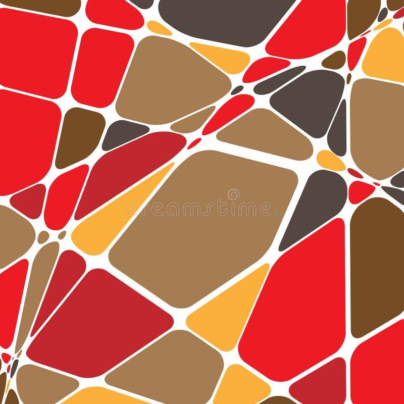 Slumpmässig mosaik Geometrisk modell för ojämn kullersten Tessella vektor illustrationer