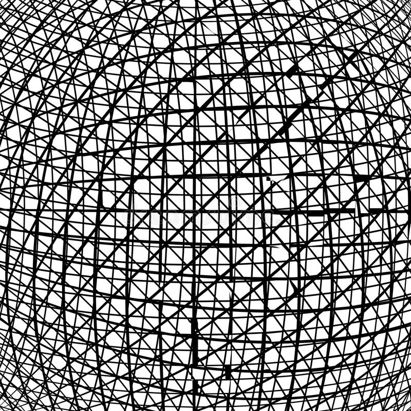 Slumpmässiga kaotiska linjer geometrisk modell för abstrakt begrepp stock illustrationer