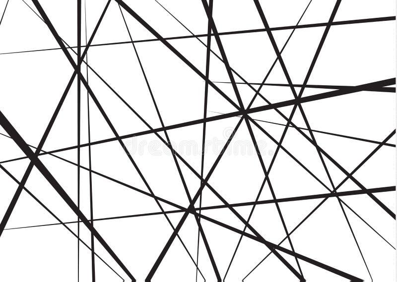 Slumpmässiga kaotiska linjer geometrisk modell för abstrakt begrepp Det kan vara nödvändigt för kapacitet av designarbete Kan anv stock illustrationer