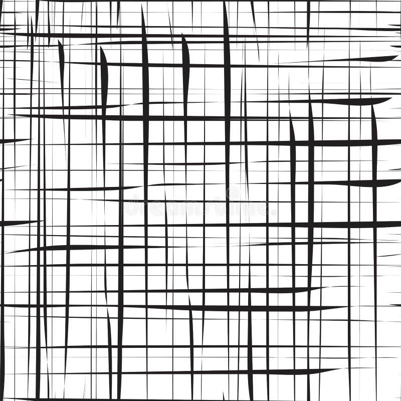 Slumpmässiga kaotiska linjer geometrisk modell/textur för abstrakt begrepp Modernt samtida konst-som illustration stock illustrationer