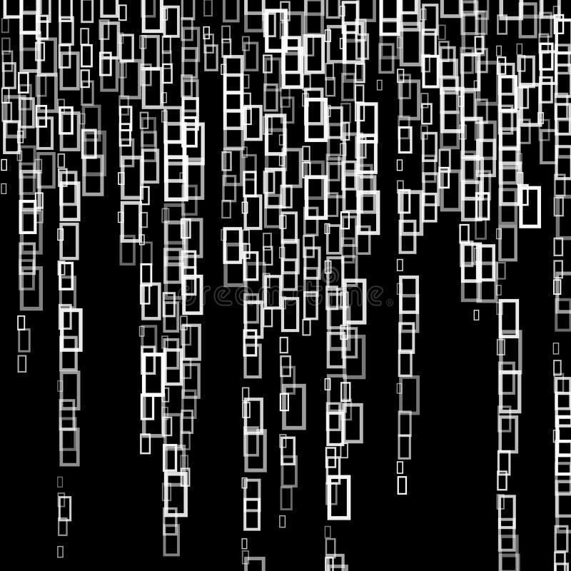 Slumpmässiga rektanglar stock illustrationer