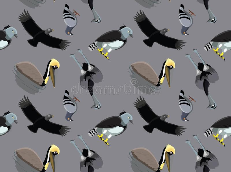 Slumpmässiga söder - amerikansk fågeltapet 1 royaltyfri illustrationer