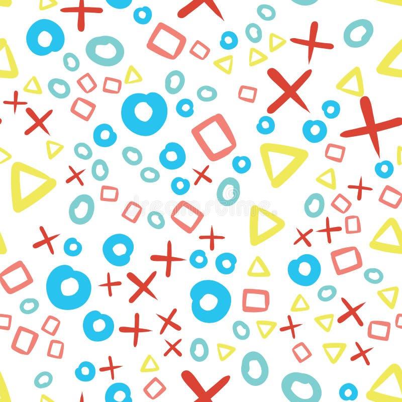 Slumpm?ssig geometrisk formmodell abstrakt bakgrund Geometrisk enkel illustration Id?rik lyxig stil Skriv ut kortet, torkduk, stock illustrationer