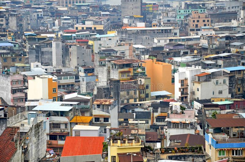 Slums Macau. LLttle slums Macau. China. background royalty free stock photography