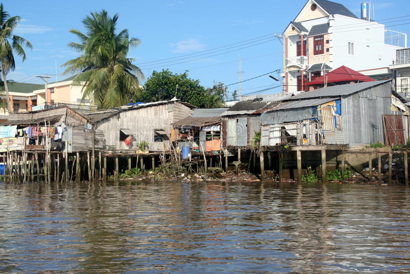 Download Slums In Mekong River Delta Stock Photo - Image: 32438386