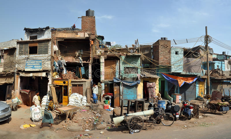 Download The Slums Of Old Delhi Panorama, India Editorial Stock Image - Image: 24328554