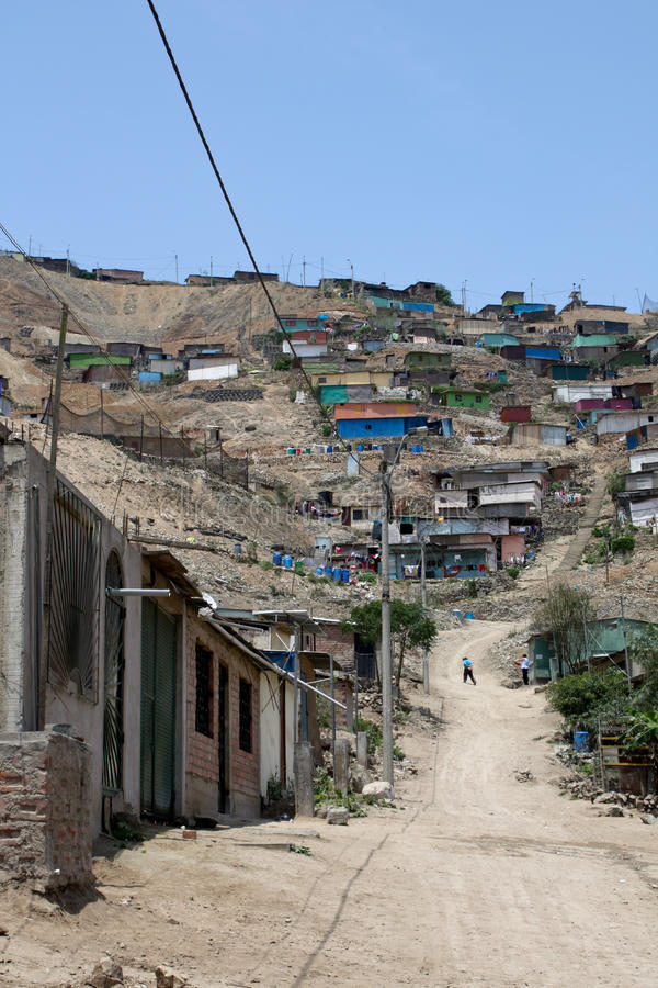 Slums, South America, Lima Royalty Free Stock Photos