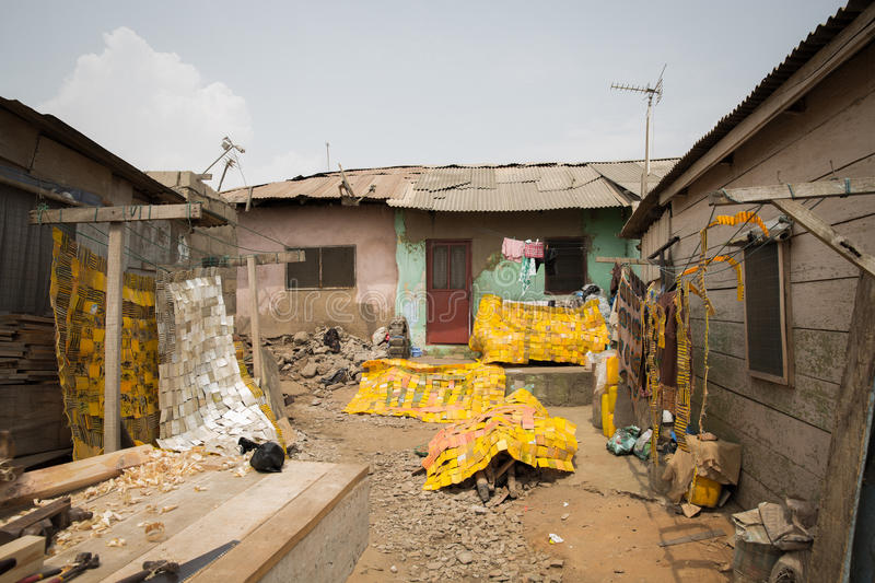 Slums. Typical slums in accra ghana stock images