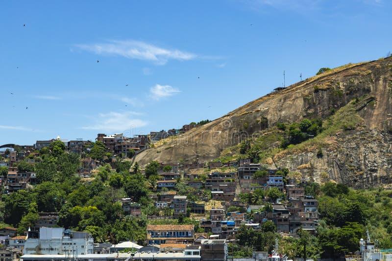 Slums of the world. Favelas of Brazil. Slum in the city of Niteroi, Penha Hill slum. Rio de Janeiro state Brazil stock photo
