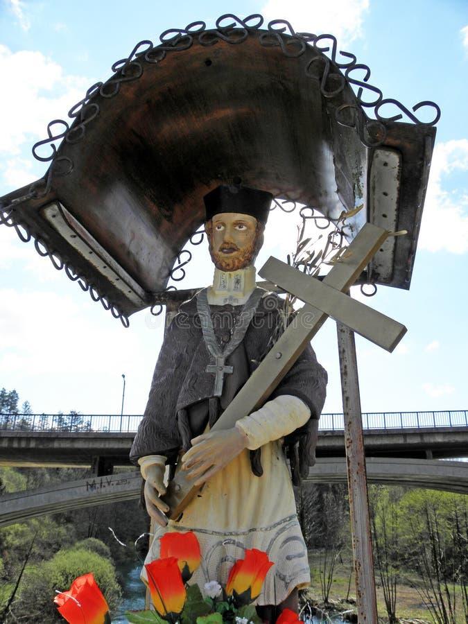 Slunj Rastoke, 'Johns bro ', Kroatien arkivfoto