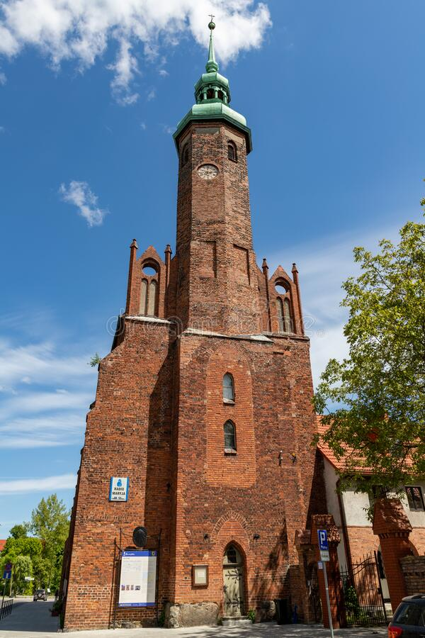 Free Slupsk, Pomorskie / Poland - June, 3, 2020: Catholic Church In The City Center. Catholic Temple In Central Europe Royalty Free Stock Photos - 185405928