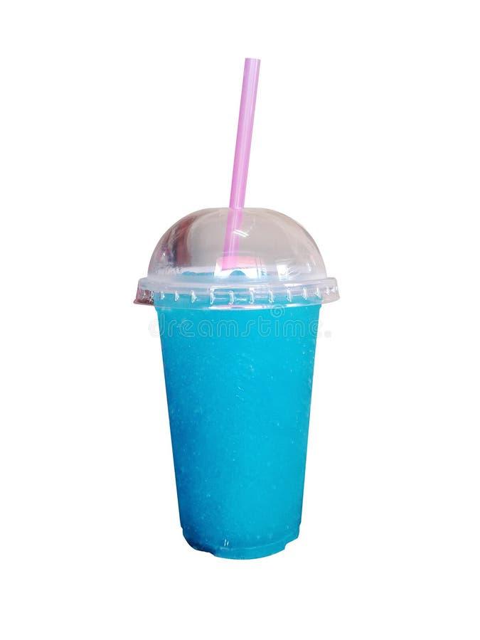 Slushies coloridos del verano con la paja en el fondo blanco bebida libre illustration
