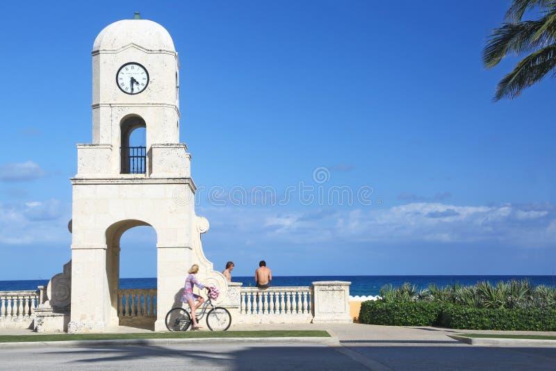 Slut av den värda avenyn i Palm Beach arkivbilder
