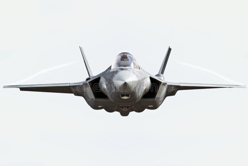 Slut för främre sikt F35 upp royaltyfri illustrationer