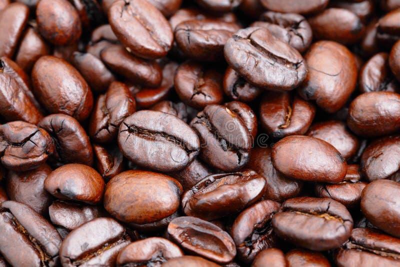 Slut för kaffeböna upp arkivbild