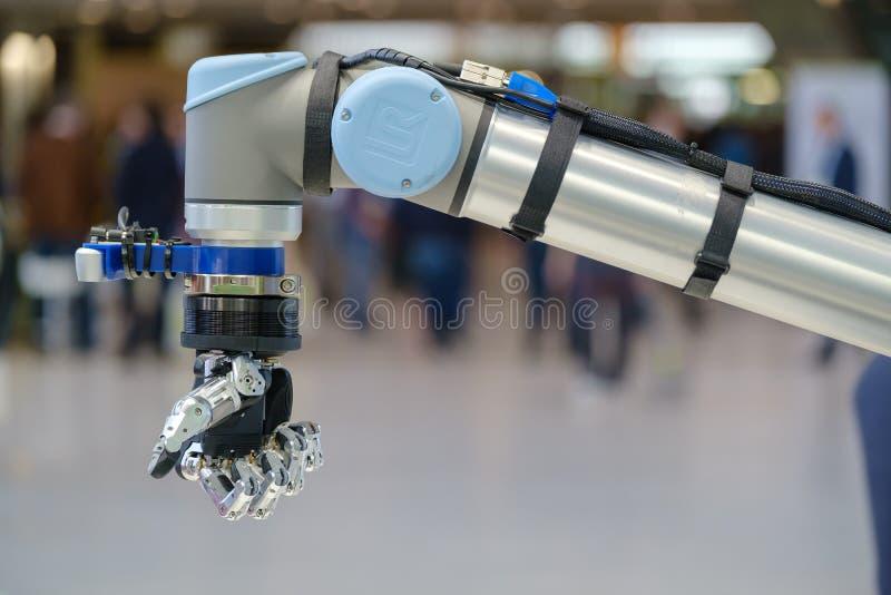 Slut f?r robothandmakro upp royaltyfri foto