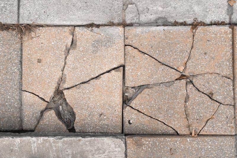 Slut upp abstrakt bruten konkret vandringsledbakgrund arkivbilder
