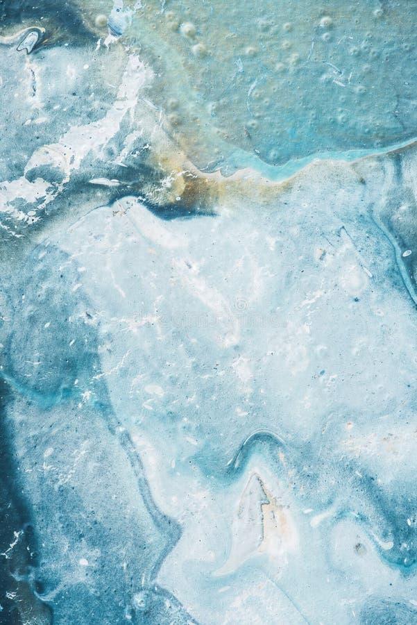 slut upp av abstrakt bakgrund med blå och vit olja för ljus - royaltyfri bild