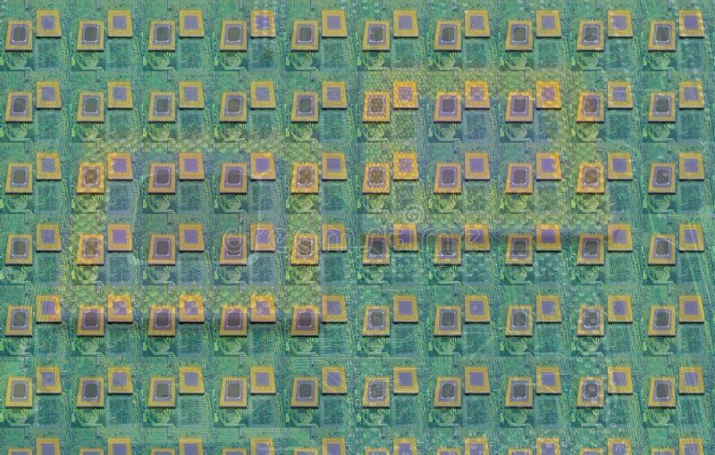 Slut upp av CPU-processorer arkivfoto