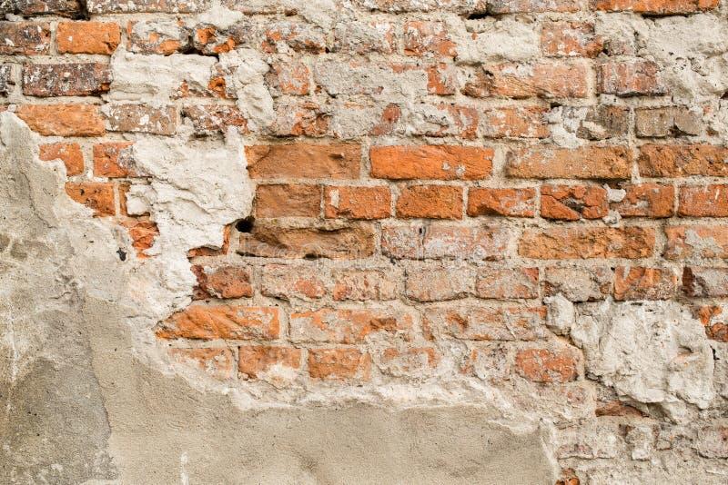 Slut upp av den gammala tegelstenväggen royaltyfri foto
