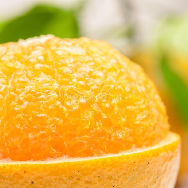 Slut upp av den nya apelsinen royaltyfri foto