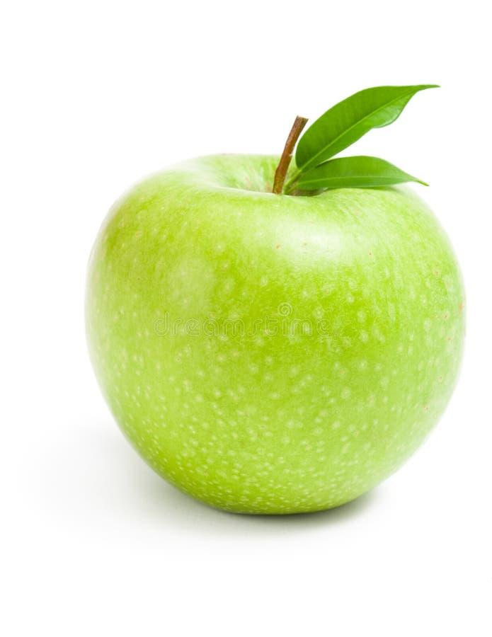 Slut upp av det gröna äpplet arkivfoto
