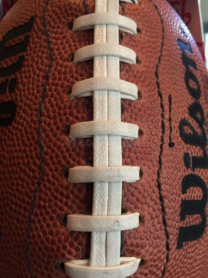 Slut upp av en NFL-fotboll royaltyfri foto