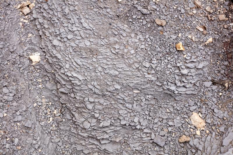 Slut upp av eroderade Grey Shale Rock Face arkivfoto
