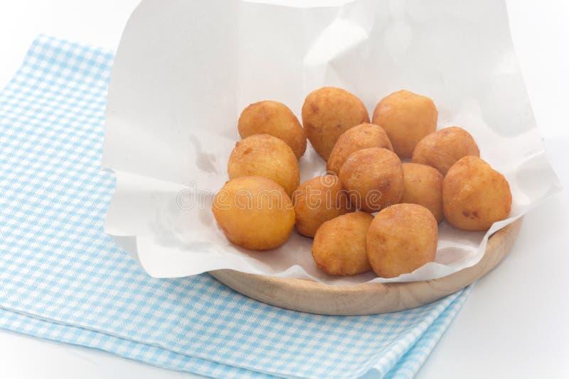 Slut upp av Fried Sweet Potato Balls royaltyfria bilder